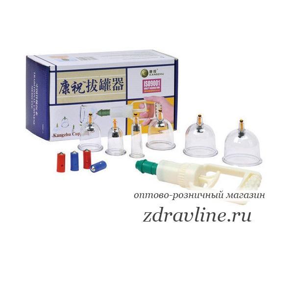 Набор вакуумных банок (вакуумный массаж, кровопускание) 6 банок